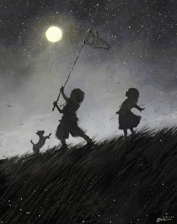 Children at night